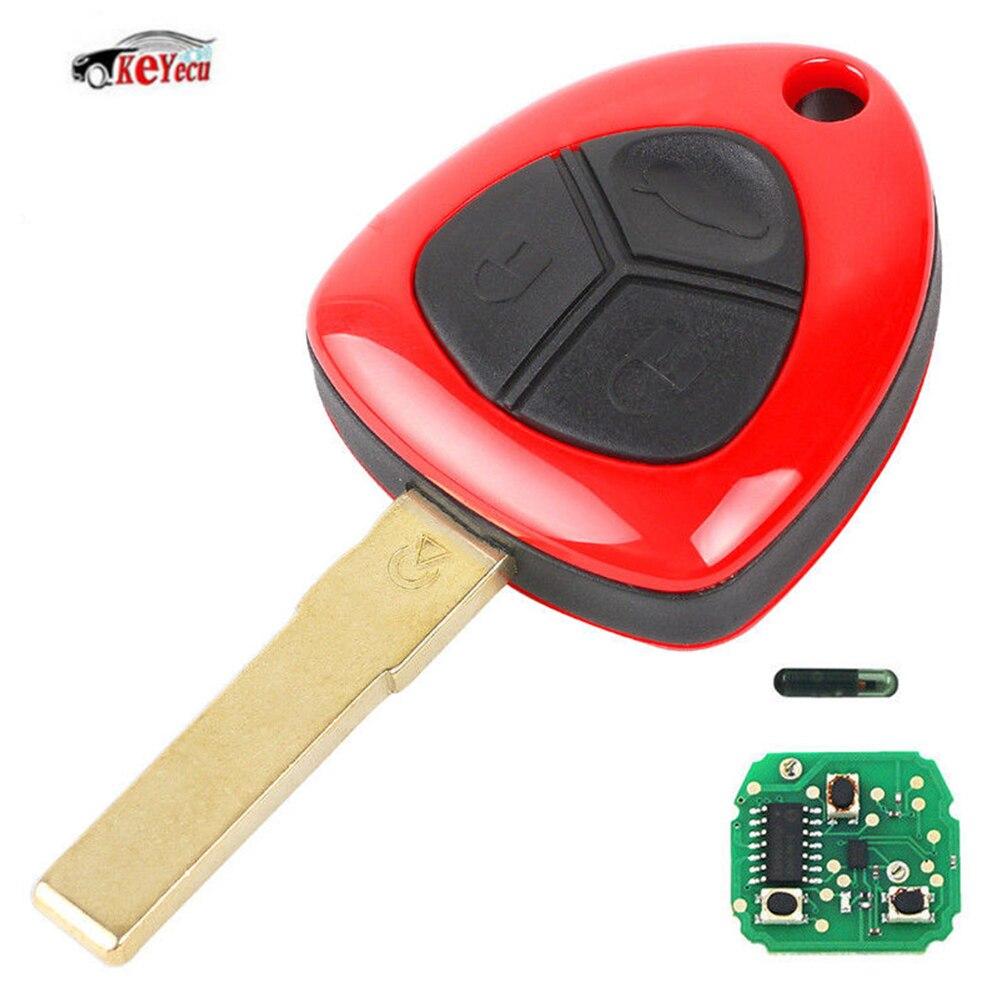 KEYECU Neue Smart Ersatz Remote Key Fob 3 Taste 433 MHz ID48 Chip für Ferrari 458 Italia California 2010- 2014 FF 599 GTB