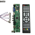 Envío libre V56 Universal TV LCD Tablero de Conductor Del Controlador PC/VGA/HDMI/USB Interfaz + 7 clave junta