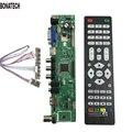 Frete grátis V56 Universal TV LCD Placa de Driver de Controlador de PC/VGA/HDMI/USB Interface + 7 chave placa