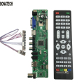 free shipping V56 Universal LCD TV Controller Driver Board PC/VGA/HDMI/USB Interface+7 key board