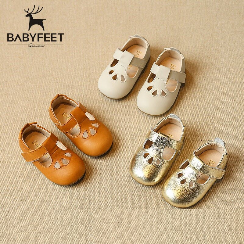 2017 Babyfeet 1-3 years old Child Girl princess shoes toddler shoes baby kids casual & formal Genuine Leather Hollow flat shoes babyfeet summer cool toddler shoes 0 2 year old newborn baby girl