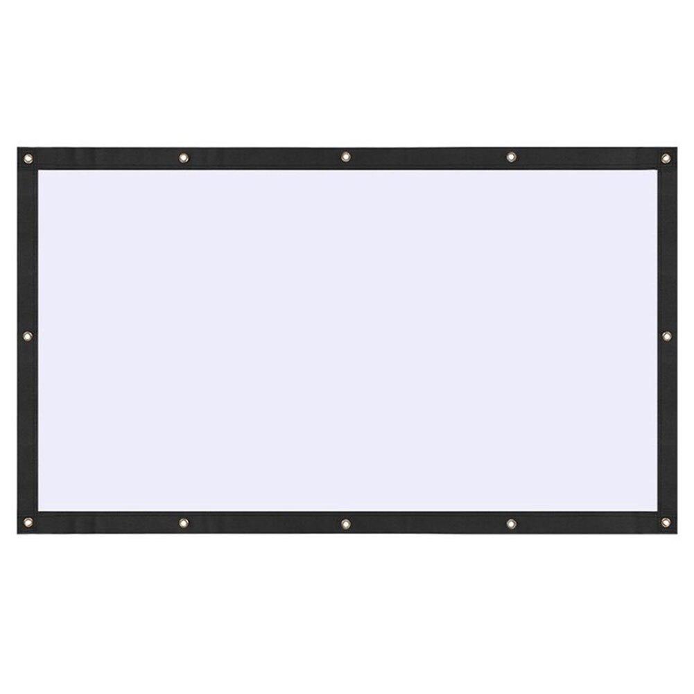 HD Projection rideau projecteur écran Bar KTV cours pliable Portable