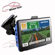 Neue 7 zoll HD Auto GPS Navigation FM 8 GB/256 Mt DDR/800 MHZ 2016 Karte Freies Upgrade Russland/Belarus/Spanien/Europa/USA + Kanada/Israel