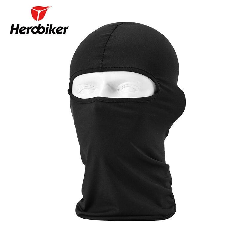HEROBIKER Black Motorcycle Face Mask Moto Balaclava Lycra Ski Mask Snowboard Cycling Motorcycle Mask for All Seasons 12 Colors