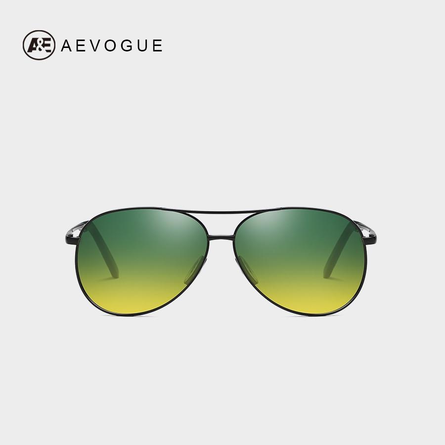 AEVOGUE Night Vision Polarized Sunglasses Men/Women Pilot Anti-glare Driving Gradient lens Unisex Sun Glasses UV400 AE0668
