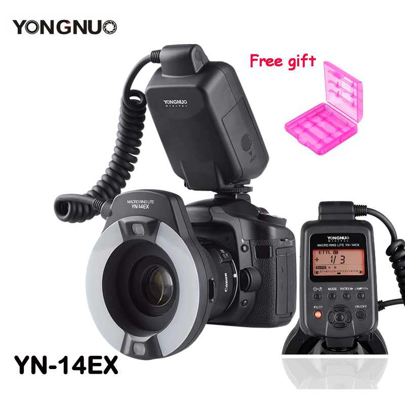 YONGNUO YN-14EX TTL Macro Ring Lite Flash Speedlite Light  for Canon 5Ds 5Dsr 760D 5DIII 6D 7D 60D 70D 700D 650D 600D as MR-14EX yongnuo yn 14ex ttl macro ring flash light work with adapter for canon 7d 6d 5diii 70d 700d
