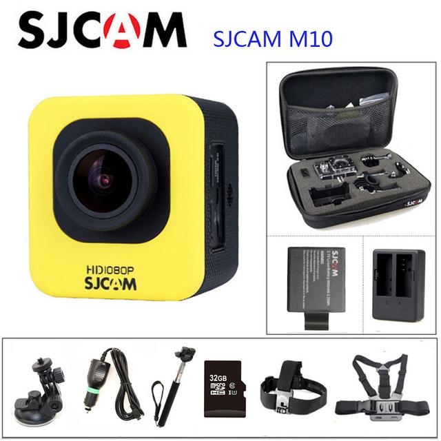 M10 sjcam original action camera diving 30 m câmera subaquática à prova d' água 1080 p câmera esporte conjunto conector