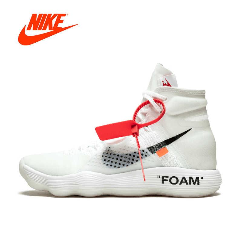 4158c1db6143 Original Authentic Nike Hyperdunk 2017 FK Off White Men s Basketball Shoes  Sport Sneakers Footwear Winter Athletic