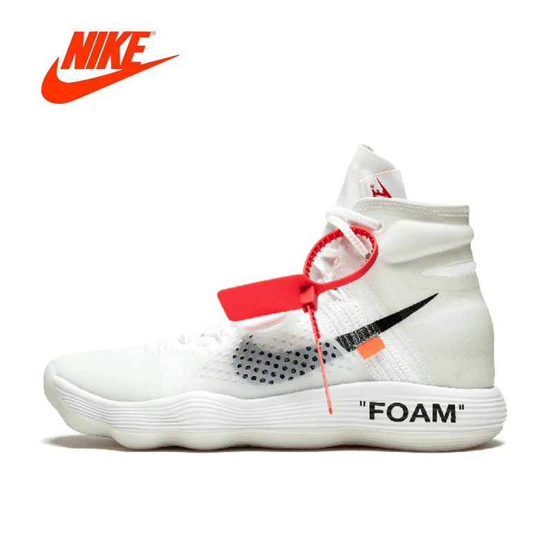 a93b0b9610f6 Original New Arrival Authentic Nike Hyperdunk 2017 FK Off White Men s  Basketball Shoes Sport Sneakers Good Quality AJ4578-100