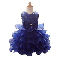 Baby Girls Wedding Dresses Clothes Princess Dress 6 Color Flower Dresses Girls Skirt Dress Bridesmaid Ballgown
