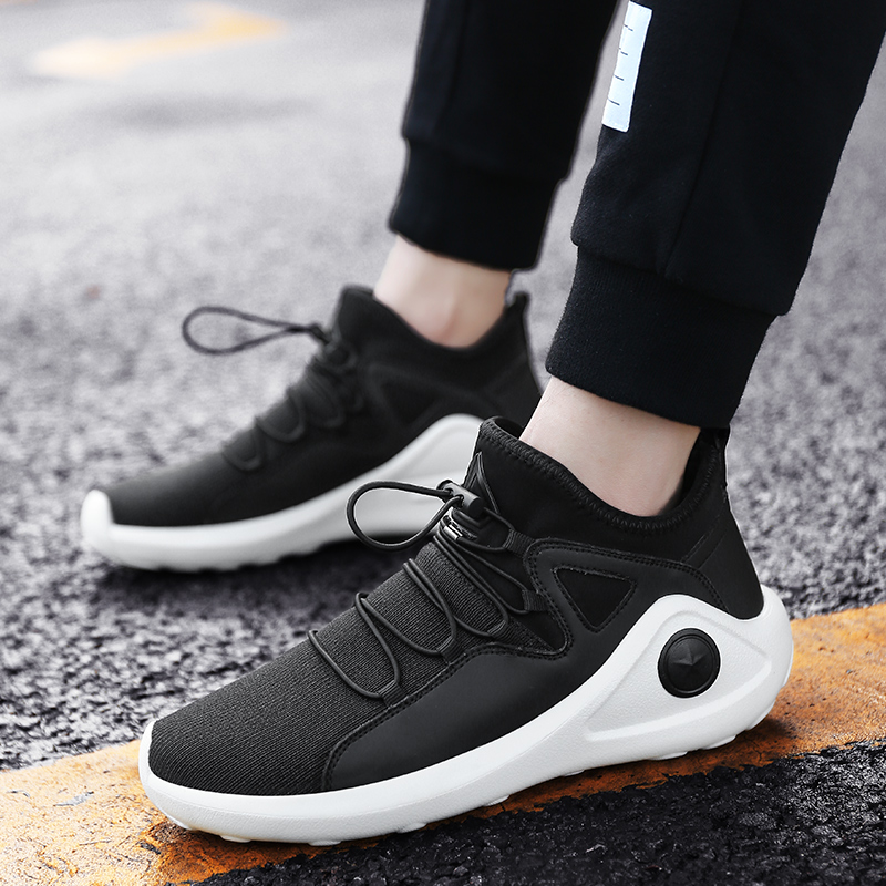 Sufei 2018 Elastic Band Running Shoes Men Outdoor Athletic Sports Sneakers Mesh Breathable Light Walking Shoes цены онлайн