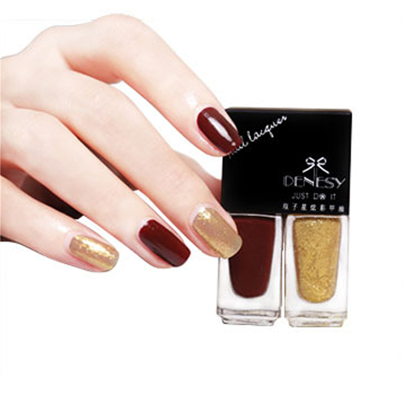 Two Tone Nail Polish Fade: 5ml*2 Gemini Ink Refers To Color Does Not Fade Lasting