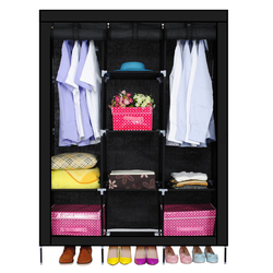 New triple nonwovens wardrobe home bedroom decor clothes clothing storage wardrobesblack.jpg 250x250