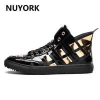 NUYORK Autumn Men Sequin Boots Winter 2018 New Black Classics Men Sneakers Quality Men Skateboarding Shoes