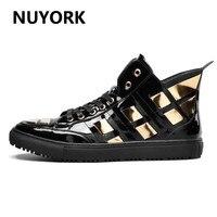 NUYORK Autumn Men Sequin Boots Winter 2018 New Black Classics Men Sneakers Quality Men Skateboarding Shoes