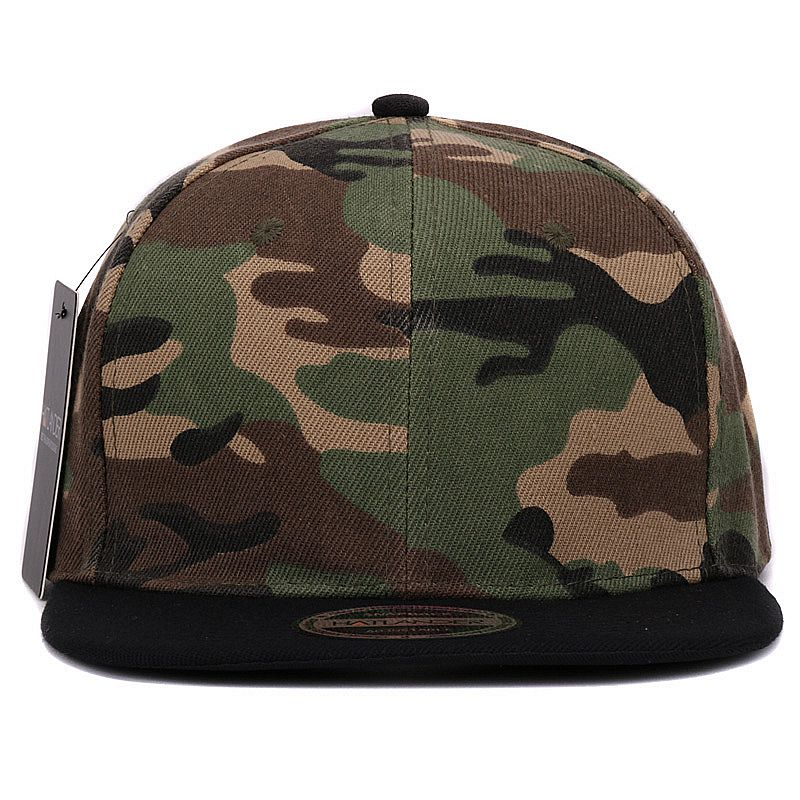 Details about Camouflage snapback polyester cap blank flat camo baseball cap 3d3c4ae73c67