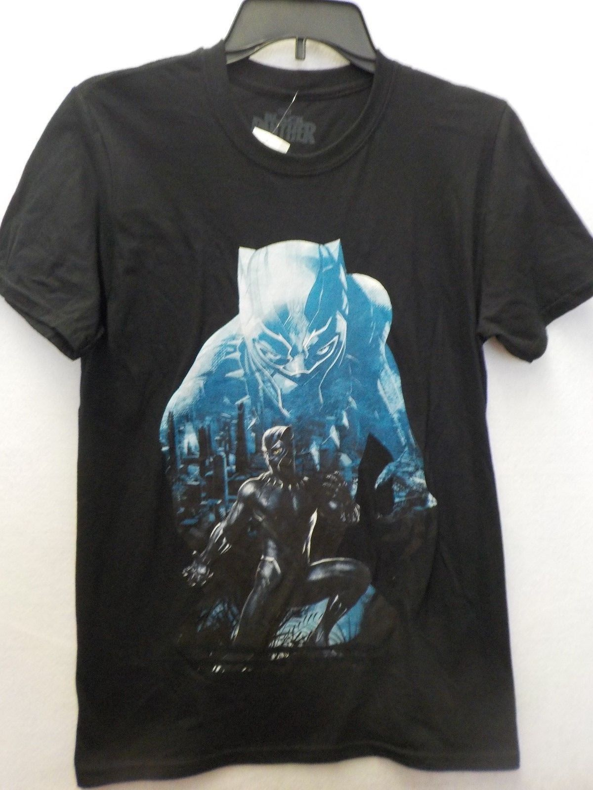 MENS SIZE SMALL MARVEL BLACK PANTHER GRAPHIC BLACK TSHIRT NEW #11333 Top Tee For Sale Natural Cotton Tee Shirts