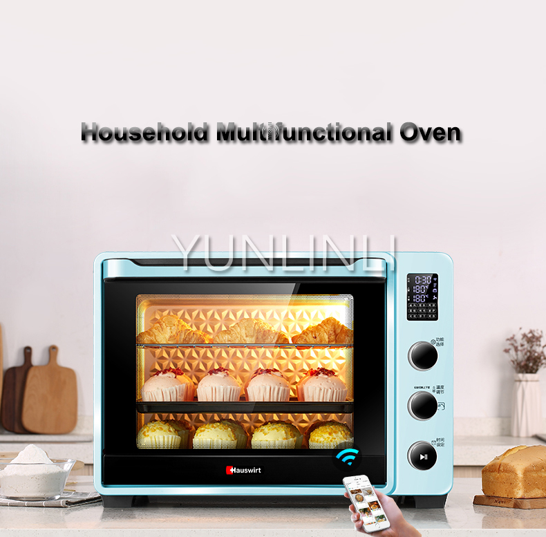 Household Multifunctional Intelligent Electric Baking Oven  40L Full-automatic Digital Oven  CY40Household Multifunctional Intelligent Electric Baking Oven  40L Full-automatic Digital Oven  CY40