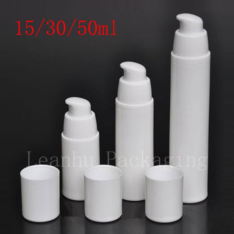 15ml 30ml 50ml Empty White Airless Lotion Cream Pump