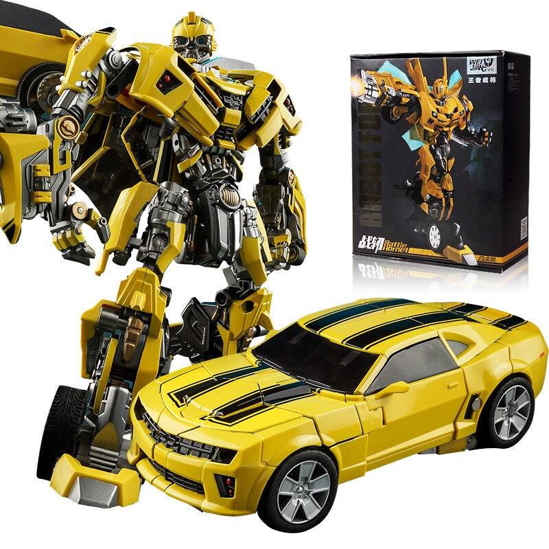 Weijiang transformación Bumblebee M03 MP2 batalla hojas aleación figura de acción película 5 Robot guerra Hornet colección juguetes regalo