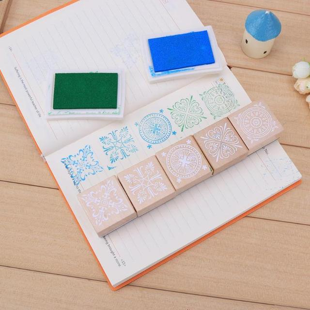 Lace Vintage Square Wooden Rubber Stamp