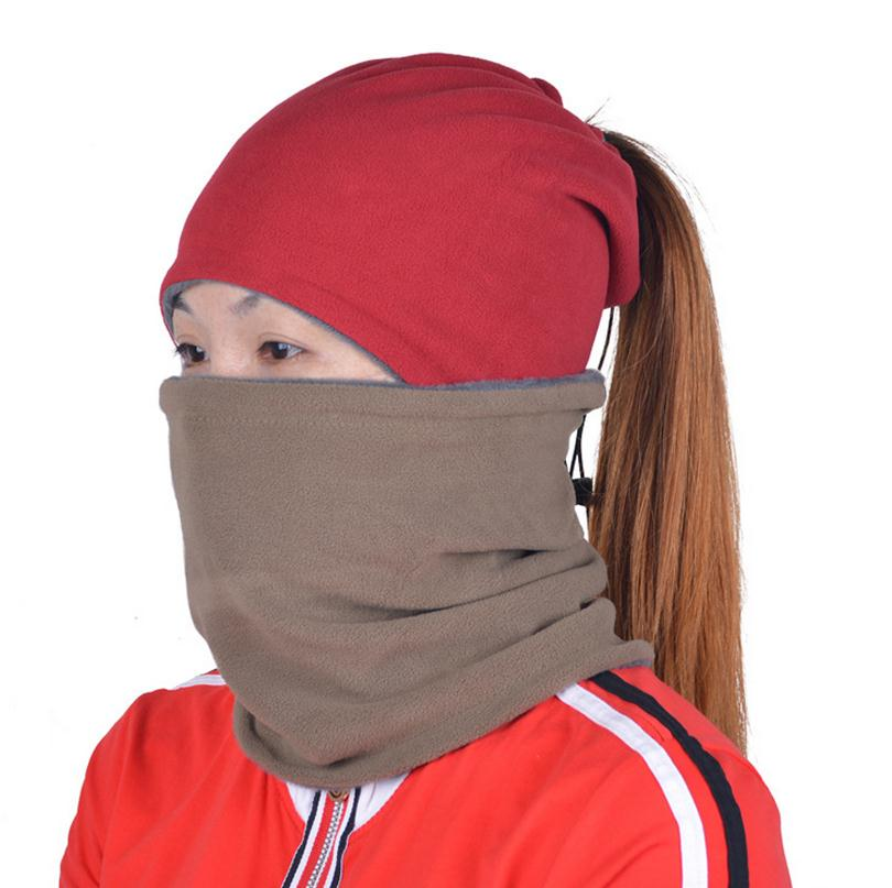 Women Masks Winter Warm Multi Function Beanies Protect Head Neck Ear Girls Riding Cycling Headwear Free Size Bike Mask Caps M027