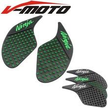 Motorcycle Tank Traction Pad Side Gas Knee Grip Protector Green Anti Slip Sticker For Kawasaki ninja 250 300 2013 2014 2015 2016