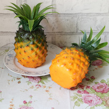 Happy Sale Home Furnishing Artificial Simulation Pineapple Plastic decorative Fruit Jun16