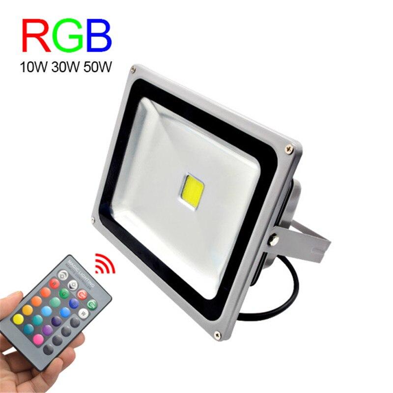 Rgb led flood light 10w 30w 50w foco led exterior for Foco led exterior 10w
