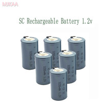 18pc SC 3200MAH 1.2V rechargeable battery 4/5 Sub C ni-cd cell with welding tabs for electric drill screwdriver