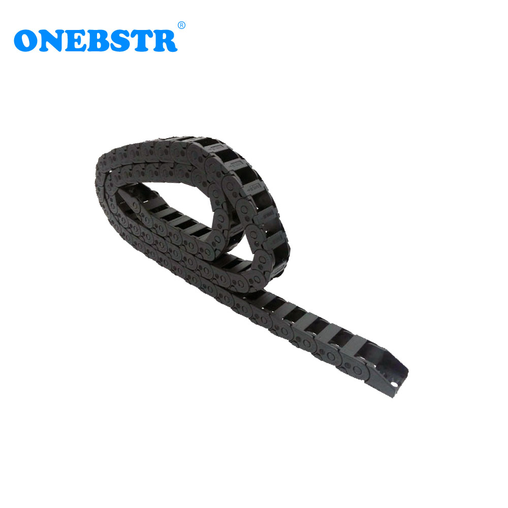 JFLO 1Meter 10x15mm Drag chain Wire Carrier cable Bridge Outside Opening Type Towline Protection Tanks Chain With End Connectors