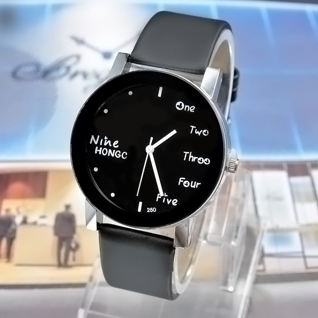 Korean Style English Letters Watches Men Lovers' Analog Watch School Students Cl