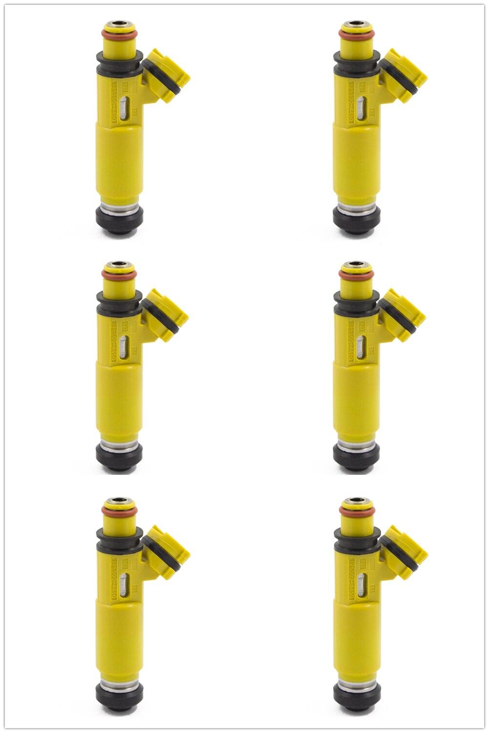 6 шт. Новый OEM желтый Топливные форсунки для Mazda Rx 8 2004 2008 195500 4450