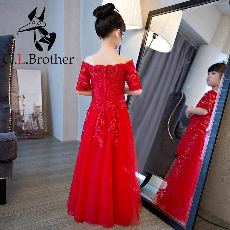 Tailing Detachable Flower Girl Dresses Appliques Princess Dress Off The Shoulder Girls Pageant Dress For Wedding Birthday Party все цены