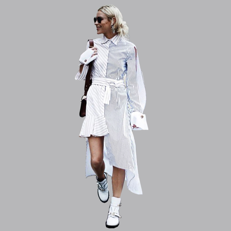 AEL dos nu évider robe femmes 2019 printemps nouvelle femme piste vêtements nouilles modèle fente manches Streetwear Style Vestido-in Robes from Mode Femme et Accessoires on AliExpress - 11.11_Double 11_Singles' Day 1