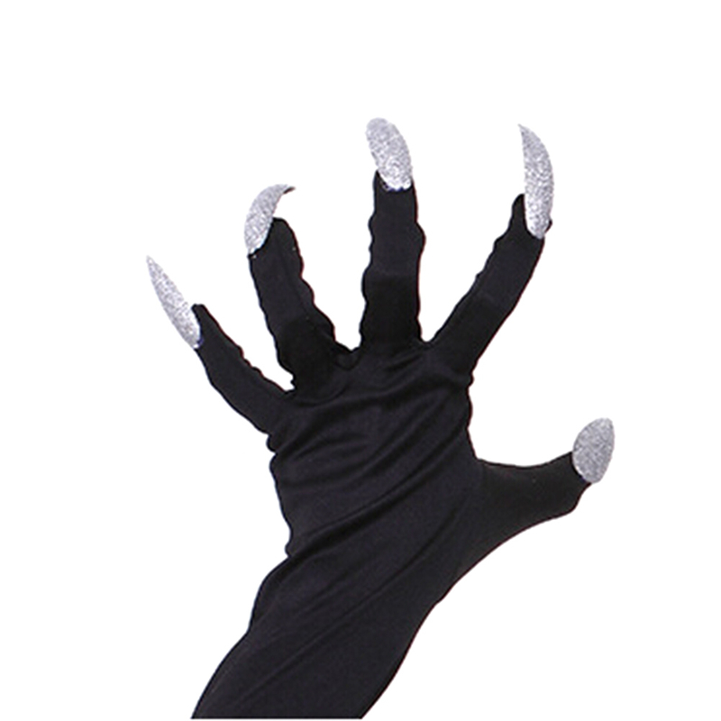 1Pair Halloween Party Decoration Cosplay Long Nail Gloves Horrible ...