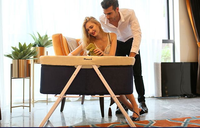Baby crib. Multi-function table. Bed. Collapsible portable travel rockers