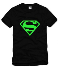 Comics Superhero ironman,superman costume underwear glow in the dark shirt super man kids summer cotton super man t shirt DC664