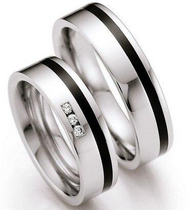 Nach schwarz inlay chirurgische titanium edelstahl hochzeit bands engagement paar ringe pairs allianz-in Eheringe aus Schmuck und Accessoires bei  Gruppe 1