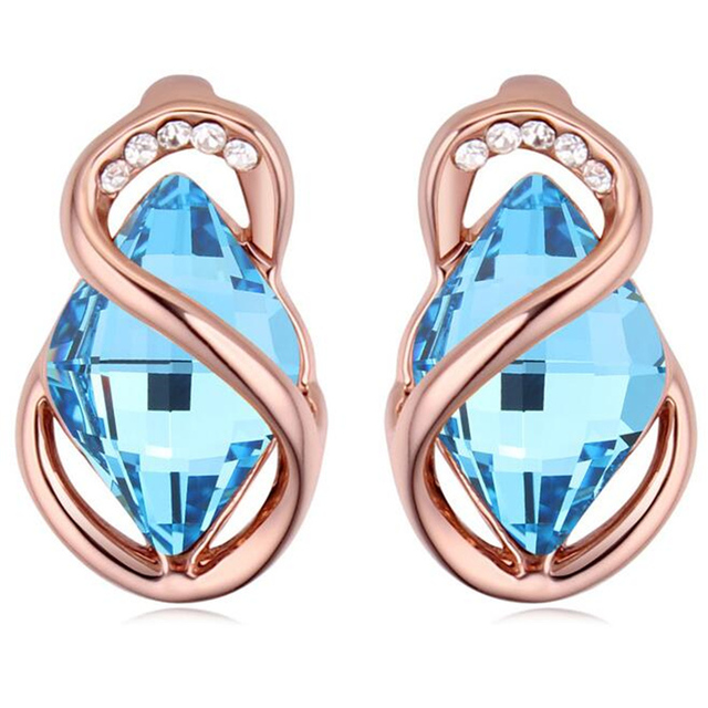Vintage Fashion Jewelry Stud Earrings Women Bijouterie High Quality Crystal from Swarovski  22942