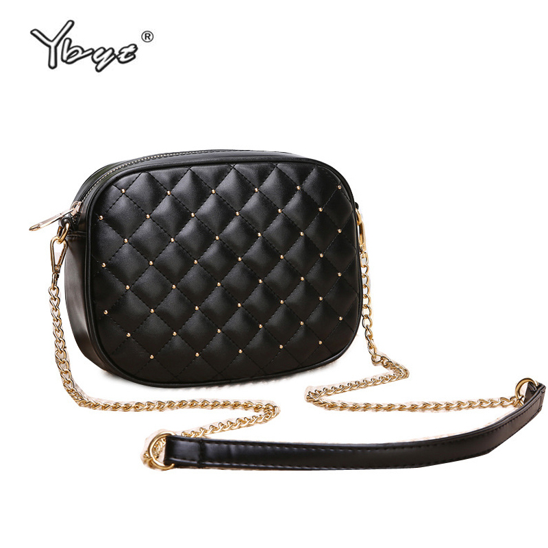 YBYT Brand 2019 New Women Diamond Lattice Shoulder Bags Ladies Joker Leisure Bags Chain Shoulder Strap Messenger Crossbody Bags