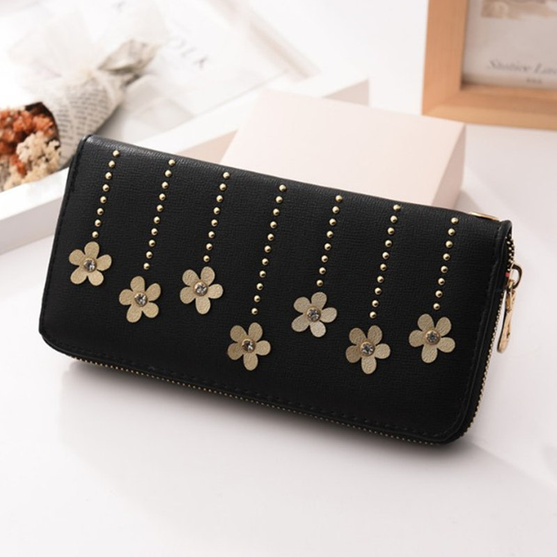 691788b127e5 2018 New Fashion style lady wallets long Women Wallet Card purses Mobile  card hand bag Coin packet Large bills pocket -in Wallets from Luggage   Bags  on ...