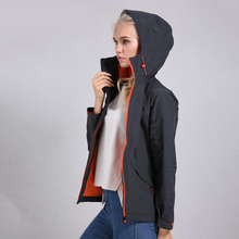 Women Autumn Breathable Waterproof Hooded Windbreaker Fishing Trekking Coat Outdoor Jacket Thin Hiking Camping Jackets facecozy men waterproof hiking jackets one layer thin spring summer autumn windbreaker camping hunting outdoor male hooded coat