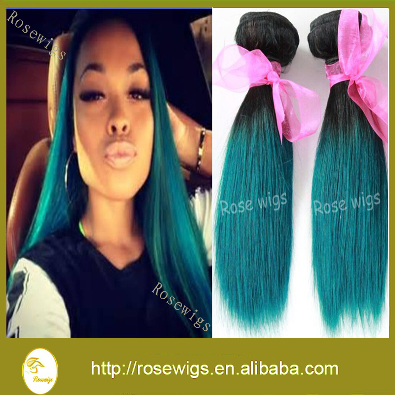 1bgreen ombre hair extensions 7a ombre brazilian human hair weave 1bgreen ombre hair extensions 7a ombre brazilian human hair weave bundles 3 pcs lot teal ombre brazilian straight hair in hair weaves from hair extensions pmusecretfo Gallery