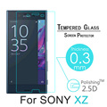 """For sony xz 5.2"""" Premium For Sony Xperia XZ Tempered Glass Screen Protector 2.5D 9H Front Safety Protective Film +Cleaning Kit"""