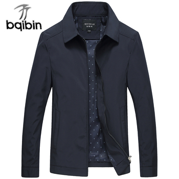 2019 New Arrival Mens Jacket and Coats Business Black Male Windbreaker Brand Outerwear Stand Collar Men Varsity Jacket Overcoat Jackets