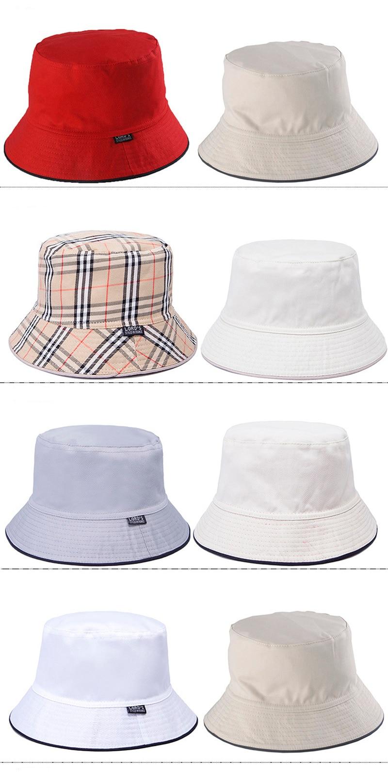 6c01d884020 Fashion Double Sides Bucket Hat Custom Cotton Reversible Bucket Sun ...