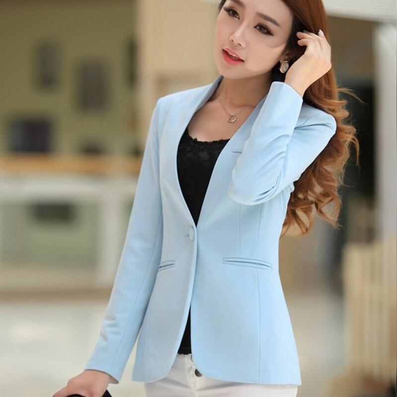 Ol blazer frauen weiblich schlank anzüge candy color mäntel langarm - Damenbekleidung - Foto 3