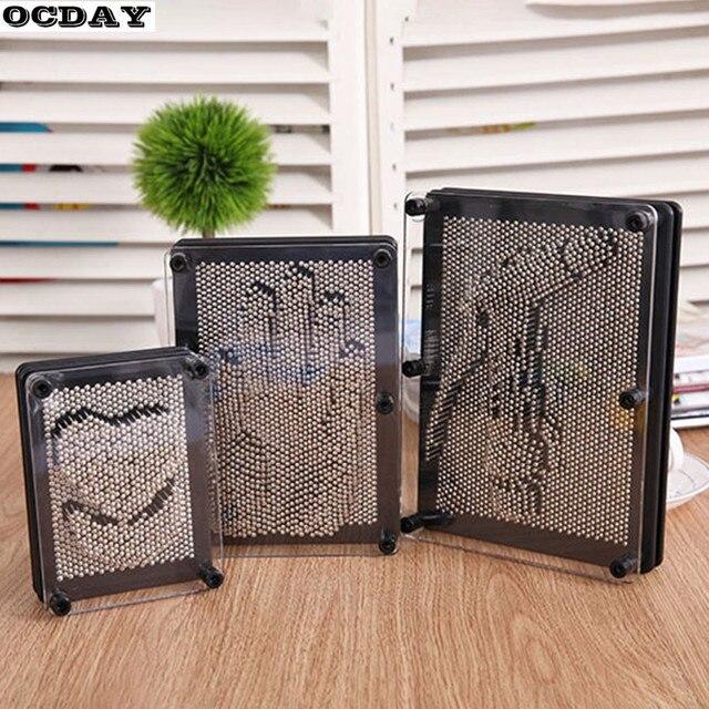 3D Clone Metal Pin Antistress Art Clone Hand Shape Model kid Toys Pinscreen Needle Board Sculptures Painting Carving Pinart Gift