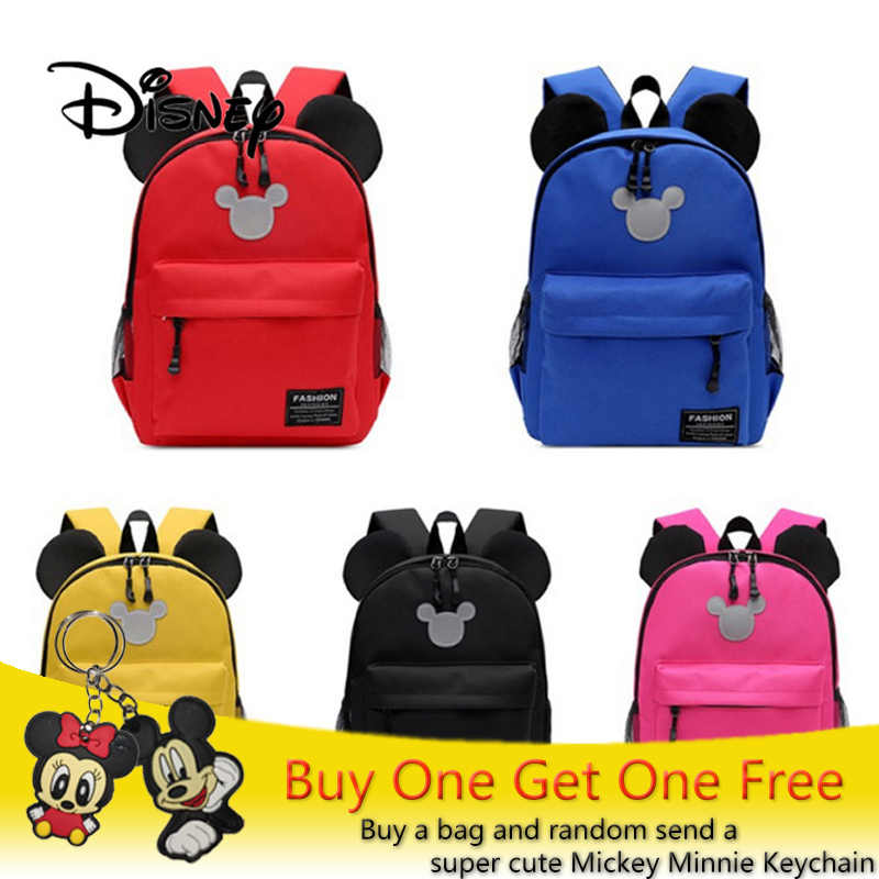 a2333aaf05e Disney Children School Bag Mickey Minnie Mouse Boy Girls Cute Kids  Backpacks Cartoon Bags Cute Kindergarten